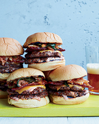 Day 10: Grilled Bacon-and-Kimchi-Burgers