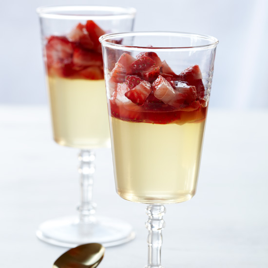 Riesling Gelée with Strawberry Conserve