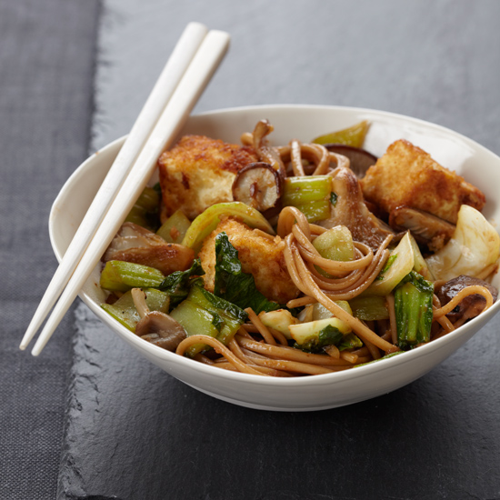 Crispy Tofu with Noodles