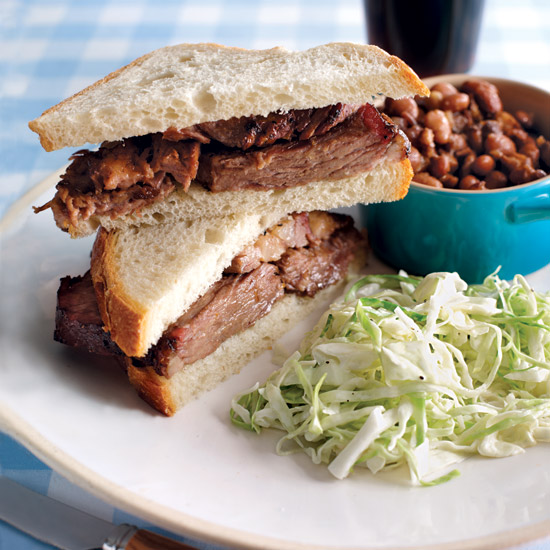 Robb Walsh's Texas Barbecue Brisket. Photo © Hector Sanchez