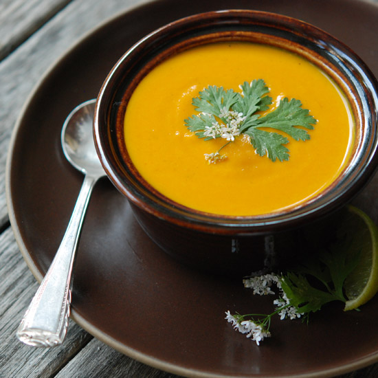 Cream of Carrot Soup with Ginger and Curry