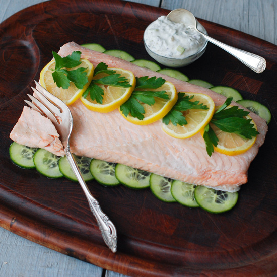 Cold Poached Salmon
