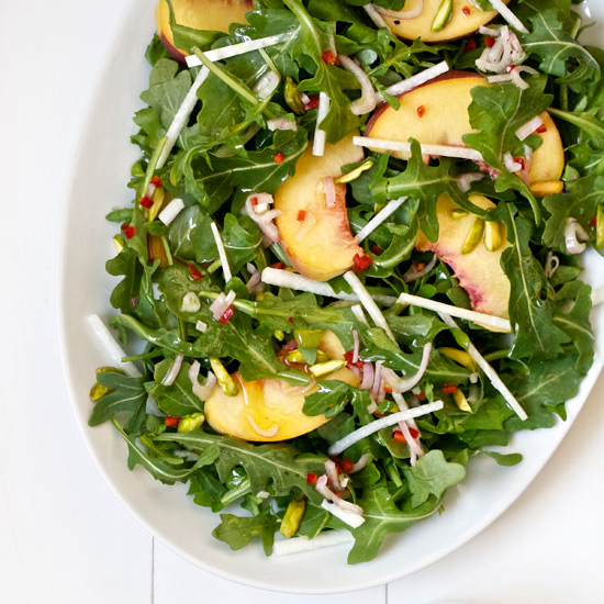 Peach and Pistachio Salad