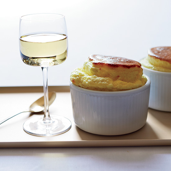 Sheep-Cheese Soufflés