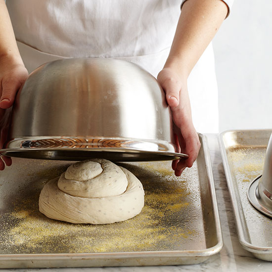 How to Make Challah: Let dough rise second time