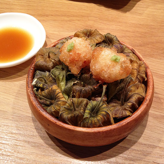 Spain Dream Trip: Gooseberry Tempura at Pakta