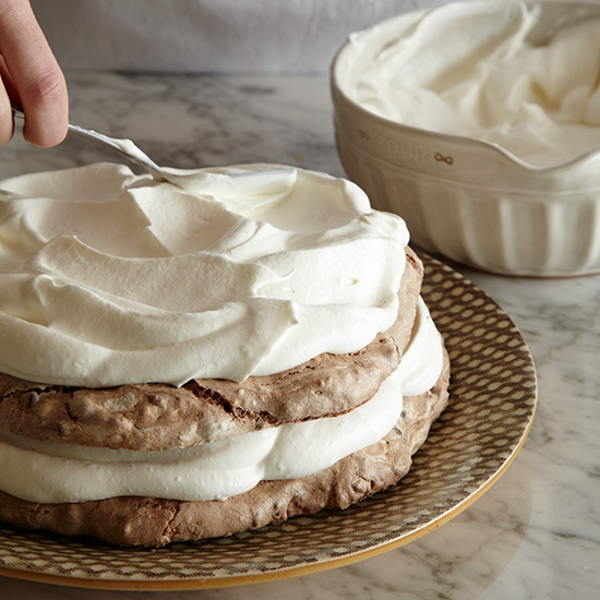 How to Make a Meringue Cake: Assemble Cakes