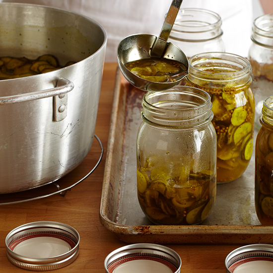 How to Make Pickles: Pour into Jars