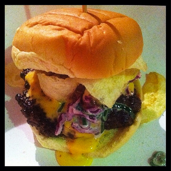 New York City Wine and Food Festival: Bobby Flay's Carolina Burger