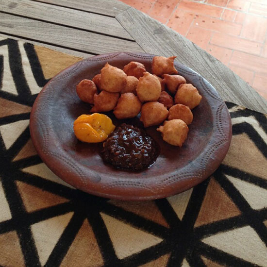 Sean Brock in Senegal: Akara Fritters
