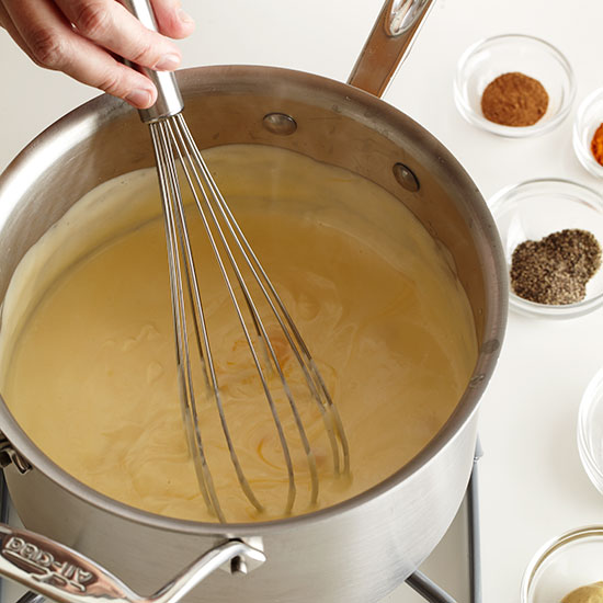 How to Make Macaroni and Cheese: Add cheeses to the Bechamel