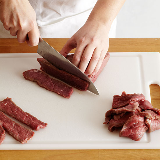 How to Make Beef Jerky: Slice the Beef