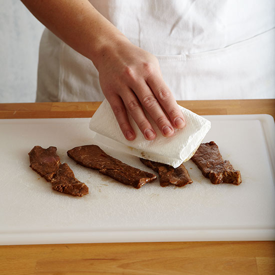 How to Make Beef Jerky: Dry the beef