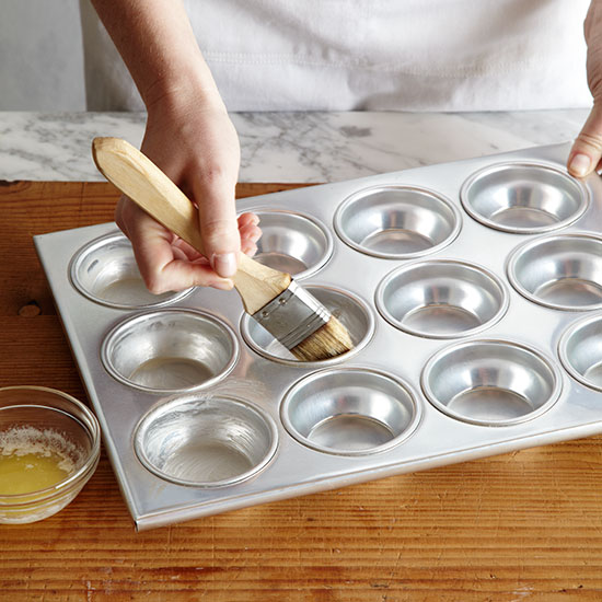 How to Make Popovers: Butter muffin tin