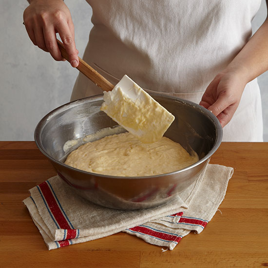 How to Make Cheese Soufflé: Fold remaining egg whites