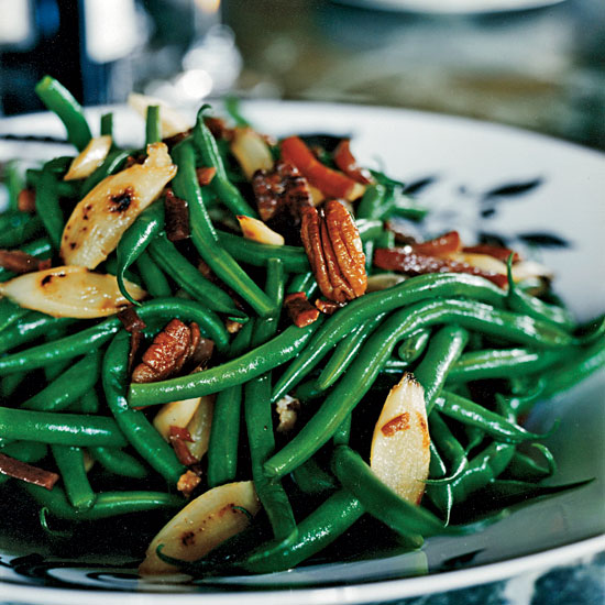 Green Beans and Salsify with Country Ham and Pecans
