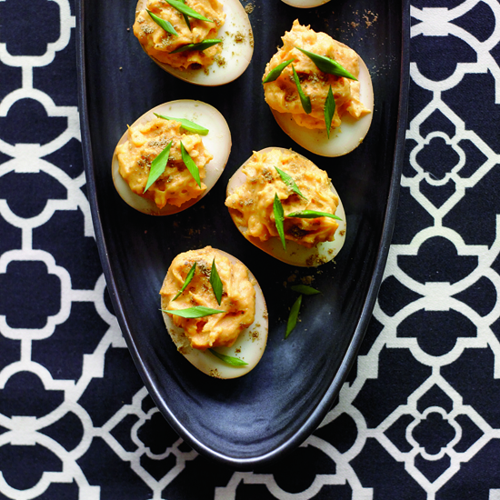 Sriracha-and-Wasabi Deviled Eggs