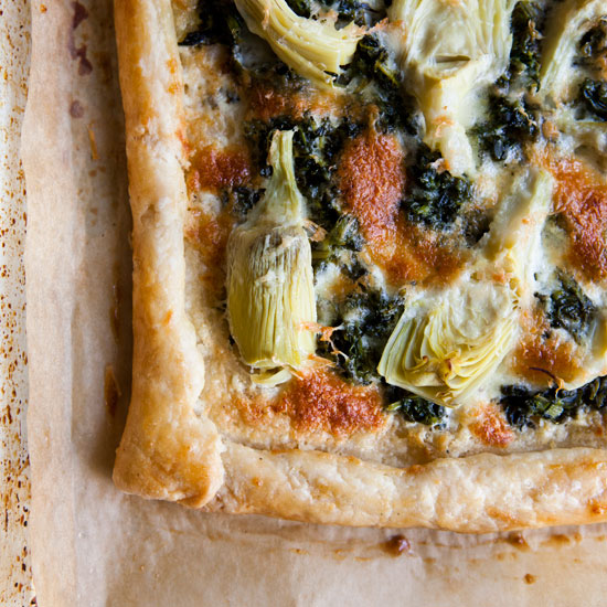 Fall's Last Hurrah: Spinach and Artichoke Galette