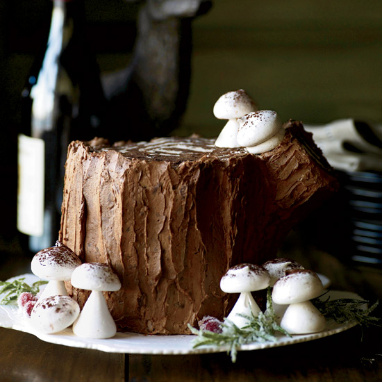 Chocolate-Malt Stump de Noël