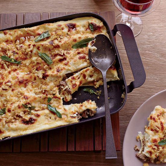 Cannelloni with Walnuts and Fried Sage