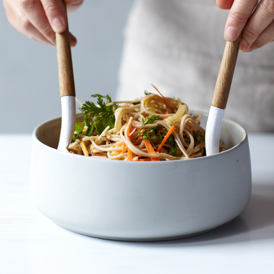 Spicy Soba Noodle Salad with Thai-Style Peanut Dressing