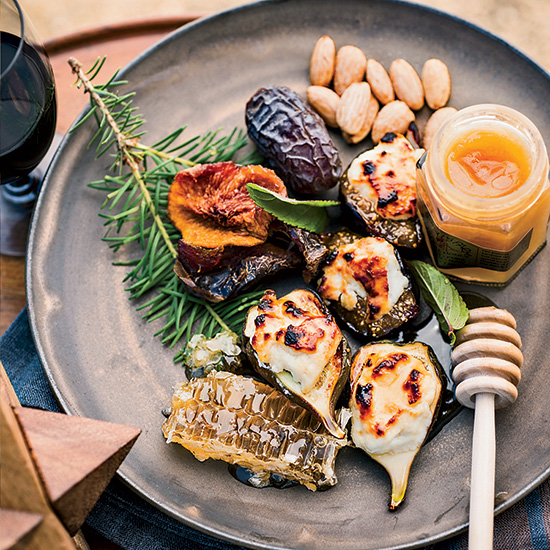 Honey-Broiled Figs with Ricotta