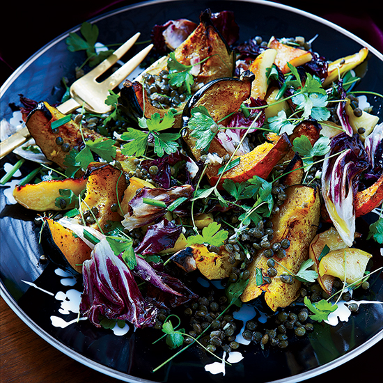 Squash, Apple and Warm Lentil Salad