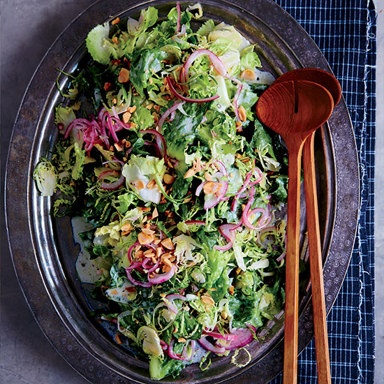 Escarole-and-Brussels Sprout Salad