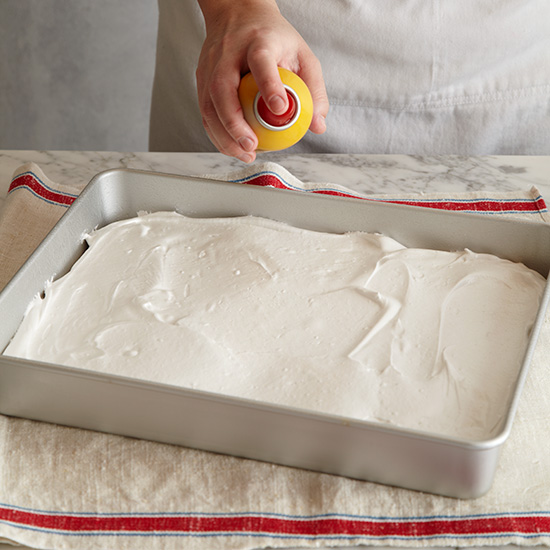 How to Make Marshmallows: Spray with Cooking Spray