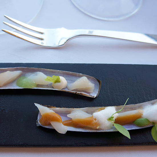 Portugal Dream Trip: Razor Clams with Lemongrass and Curry at Restaurante Vila Joya, Albufeira