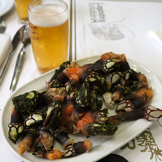 Portugal Dream Trip: Gooseneck Barnacles at Cervejaria Ramiro, Lisbon