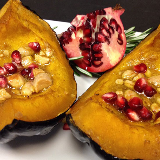 Seasonal Muse: Curry-Almond and Pomegranate Roasted Acorn Squash at Porter House