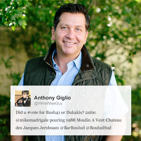 Wine Lovers to Follow on Twitter: Anthony Giglio