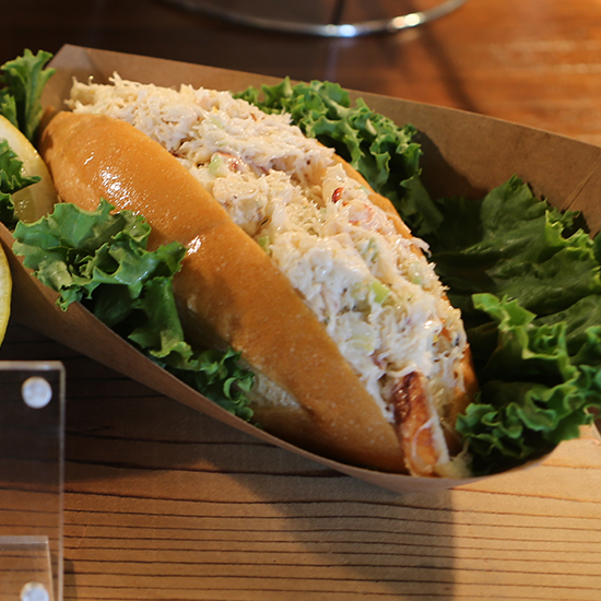 Best Stadium Food: Dungeness Crab Roll