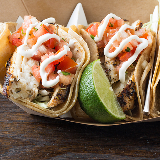 Best Stadium Food: Grilled Fish Tacos