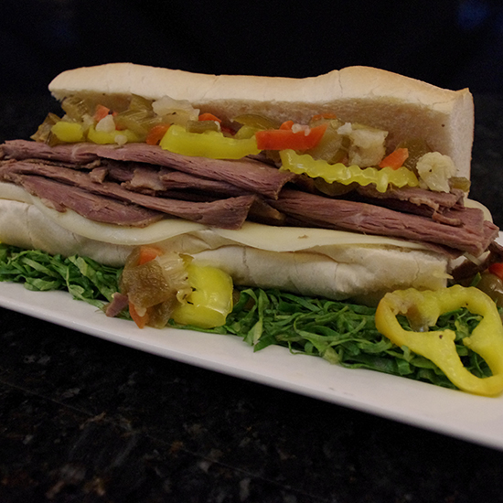 Best Stadium Food: Italian Beef Sandwich