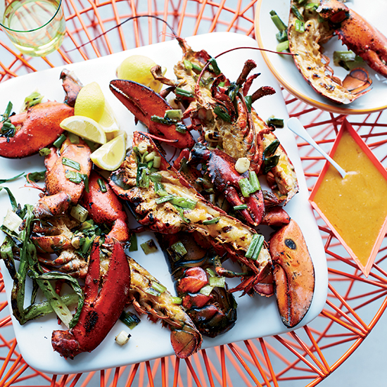 Grilled Lobsters with Miso-Chile Butter