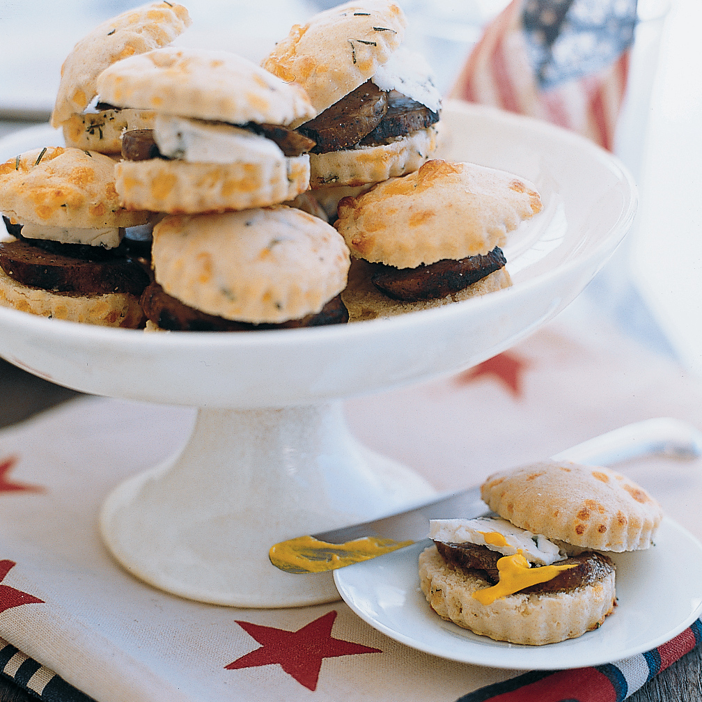 Rosemary Biscuits with Sausage and Cheese