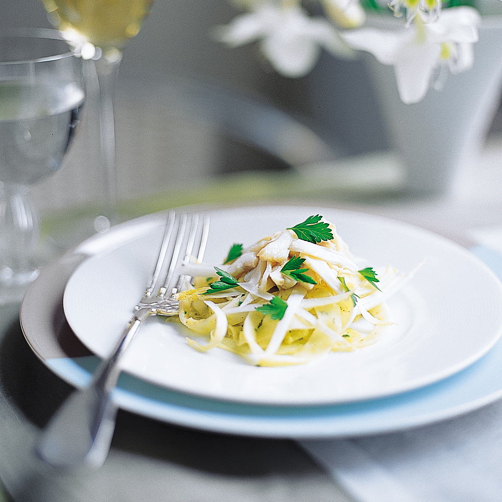 Fennel-and-Endive Slaw with Crab