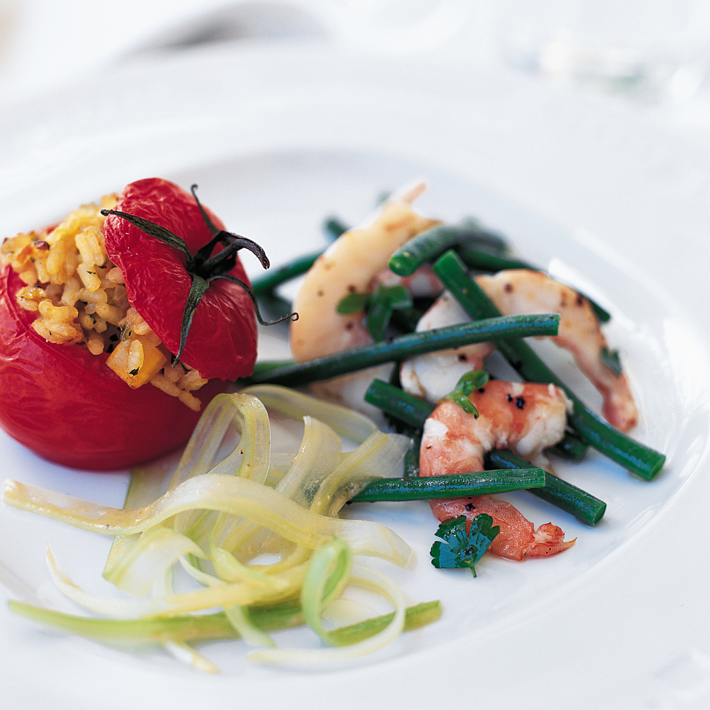 Shrimp and Green Bean Salad with Marjoram