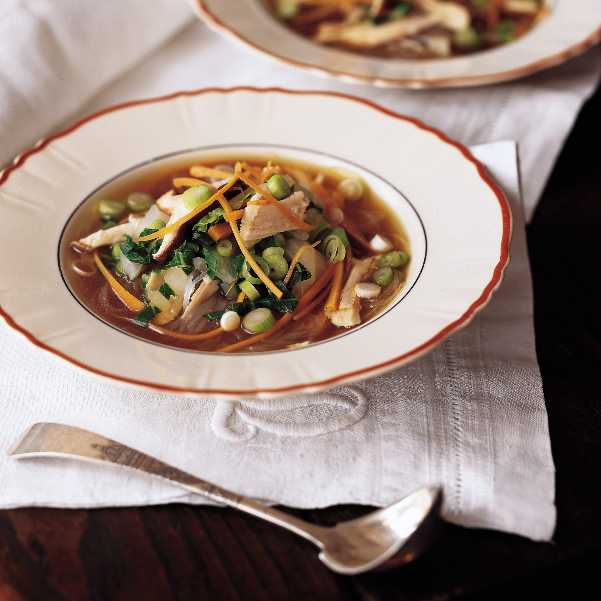 Gingered Turkey Noodle Soup
