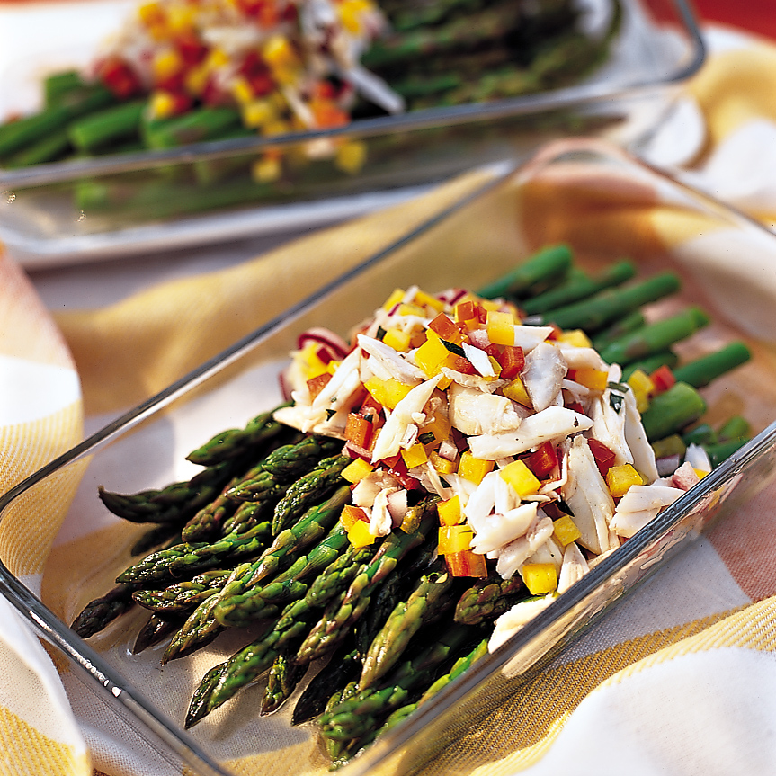 Chilled Asparagus with Crab Vinaigrette