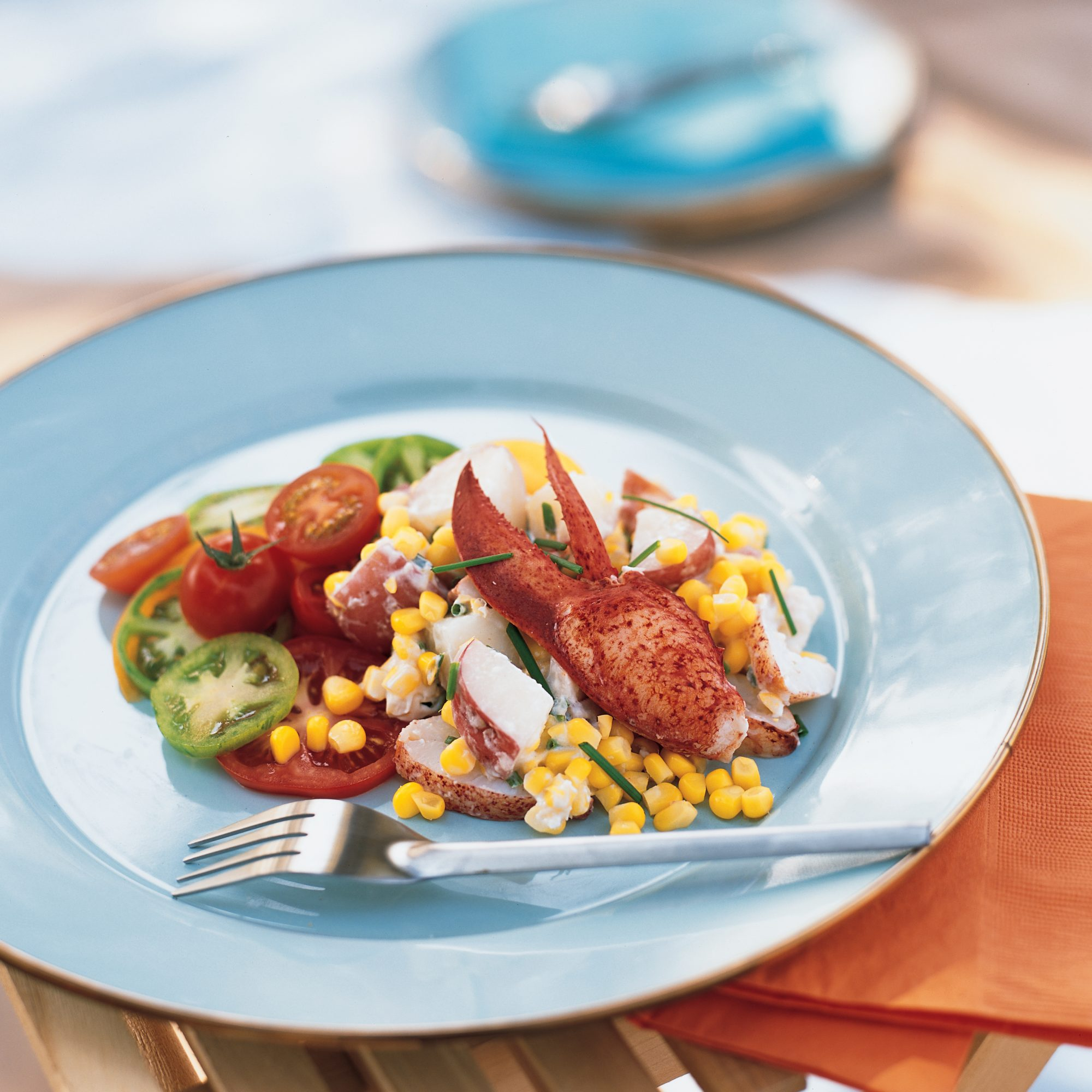 Lobster Salad with Potatoes, Corn and Tomatoes