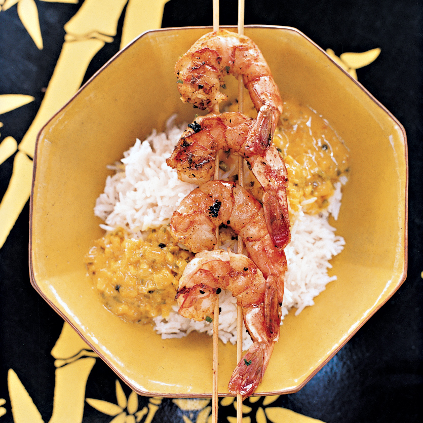 Nyonya Grilled Shrimp with Coconut Sauce