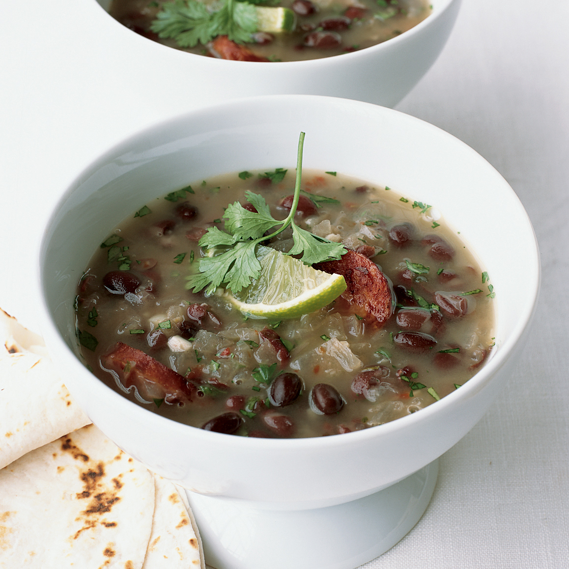 Mexican Black Bean Soup with Sausage
