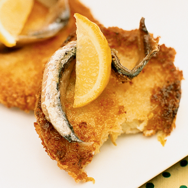Fried Green Tomatoes with Anchovy and Lemon