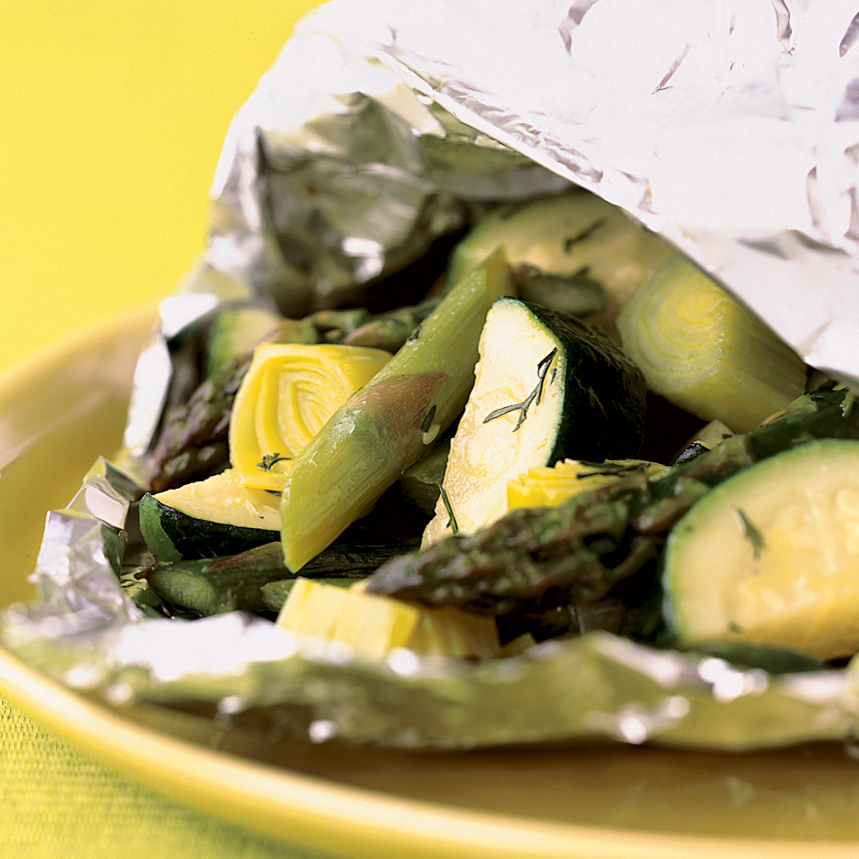 Vegetable Hobo Packs with Goat Cheese