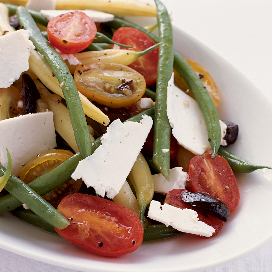 Green and Yellow Bean Salad with Ricotta Salata