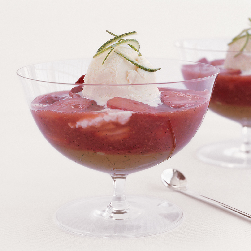 Tangy Strawberry Parfait with Lime Gelée