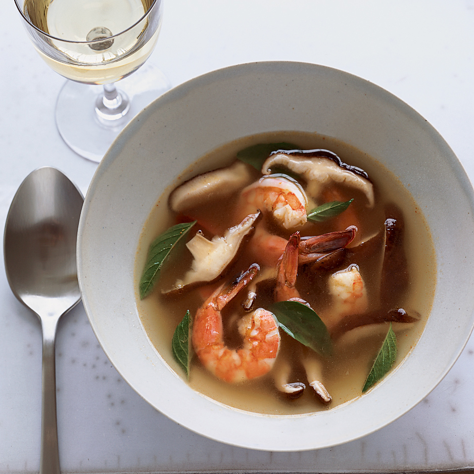 Hot-and-Sour Shrimp Soup